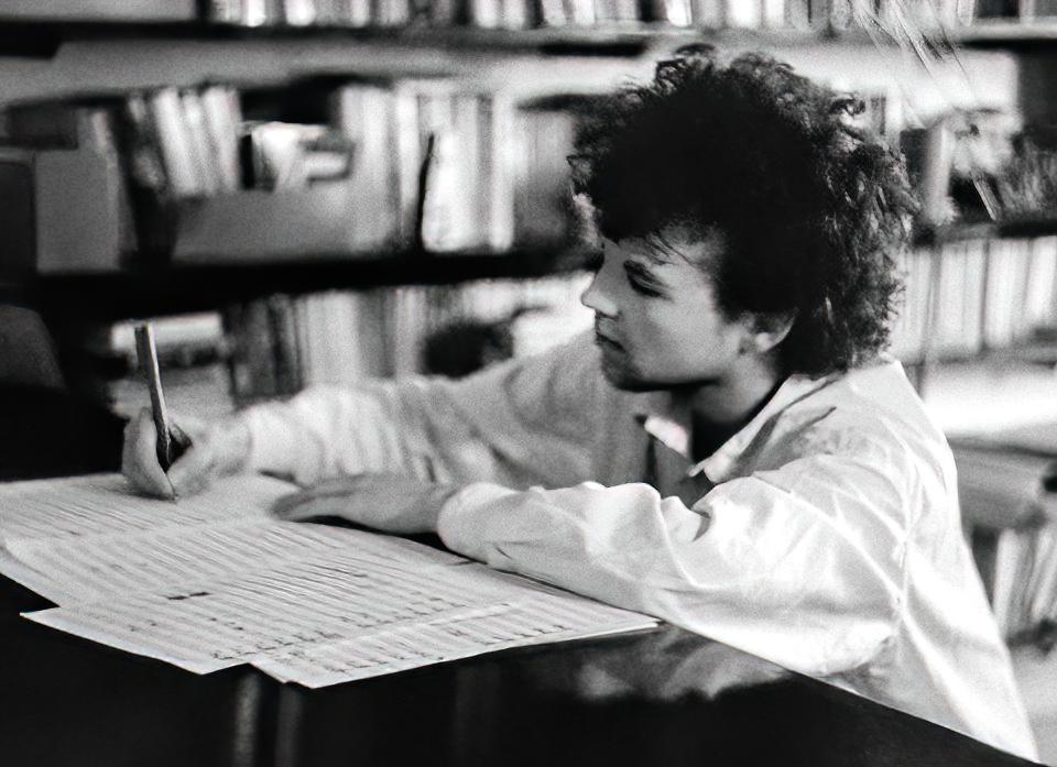 Sebastian Korman composing in Florence, 1986.